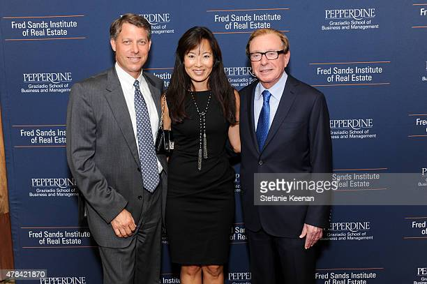Lee Shapiro Nikki Shapiro and Fred Sands attend Dedication And Celebration Dinner For The Fred Sands Institute Of Real Estate At Graziadio School...