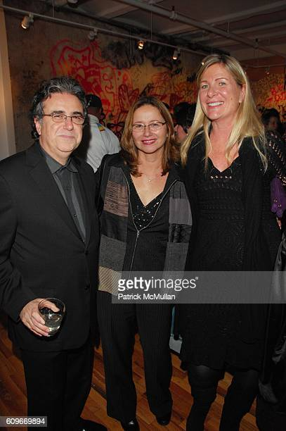 Lee Skolnick Linda Li and Jo Ann Secor attend WILD STYLE GALLERY 151 grand opening at 151 Wooster NYC on December 13 2007 in New York City