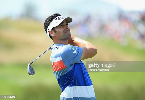 Lee Slattery of England in action during the final round of the Alstom Open de France at Le Golf National on July 7 2013 in Paris France