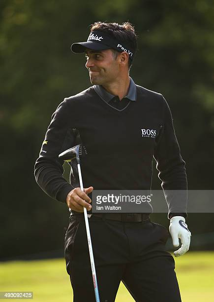 Lee Slattery of England looks on during day one of the BMW PGA Championship at Wentworth on May 22 2014 in Virginia Water England