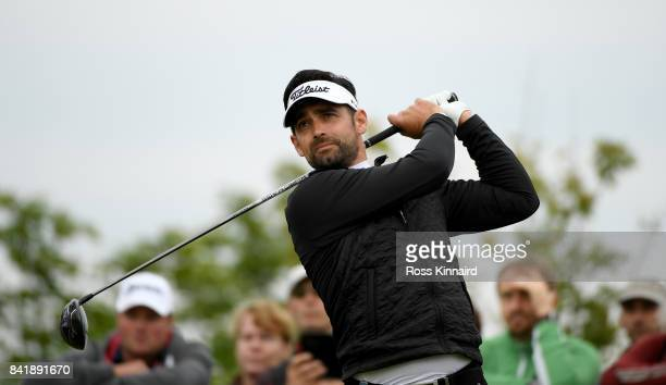 Lee Slattery of England on the 11th tee during the third round of the DD REAL Czech Masters at Albatross Golf Resort on September 2 2017 in Prague...
