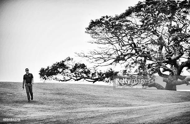Lee Slattery of England walks on the 9th hole during Day 1 of the Africa Open at East London Golf Club on February 13 2014 in East London South Africa