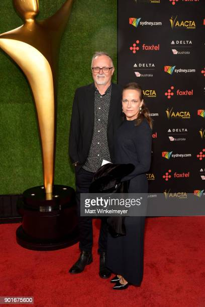 Lee Smith and guest attend the 7th AACTA International Awards at Avalon Hollywood in Los Angeles on January 5 2018 in Hollywood California