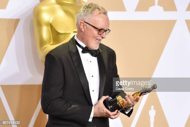 Lee Smith attends the 90th Annual Academy Awards Press Room on March 4 2018 in Hollywood California