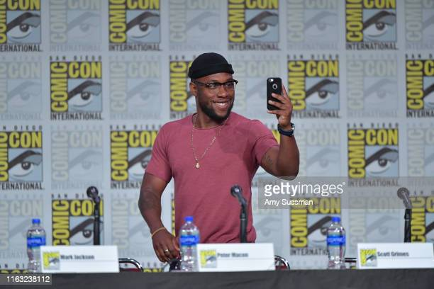 Lee speak at The Orville Panel during 2019 ComicCon International at San Diego Convention Center on July 20 2019 in San Diego California