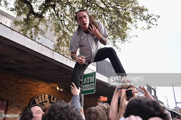 Lee Spielman of Trash Talk performs on stage at Beerland on March 14 2014 in Austin United States