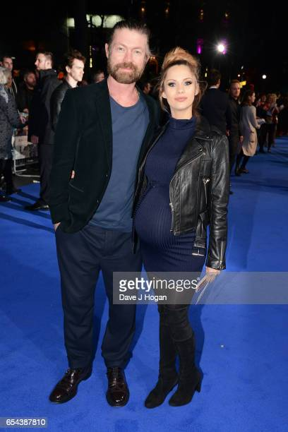 Lee Stafford and JessicaJane Stafford attend the World Premiere of 'Another Mother's Son' on March 16 2017 in London England