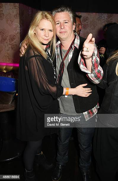 Lee Starkey and Jason Starkey attend the ROCKINS London Fash Bash at The Cuckoo Club on September 16, 2015 in London, England.