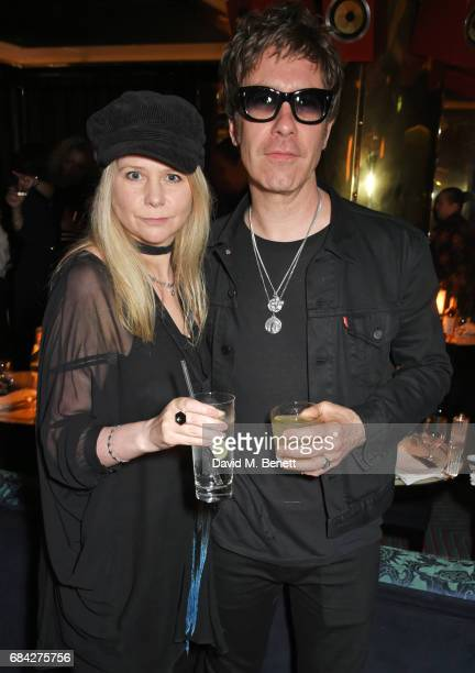 Lee Starkey and Jay Mehler attend a private dinner celebrating the launch of the KATE MOSS X ARA VARTANIAN collection at Isabel on May 17, 2017 in...