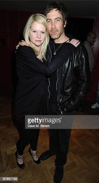 Lee Starkey and Jay Mehler of Kasabian attend the launch of Liam Gallaghers clothing line, Pretty Green, at the Gore Hotel on November 7, 2009 in...