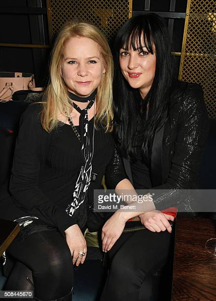 Lee Starkey and Lottie Fairbanks attend the InStyle EE Rising Star party ahead of the EE BAFTA Awards at 100 Wardour St on February 4, 2016 in...