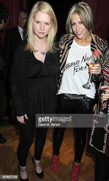 Lee Starkey and Nicole Appleton attend the launch of Liam Gallaghers clothing line, Pretty Green, at the Gore Hotel on November 7, 2009 in London,...