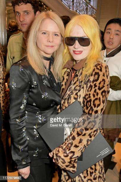 Lee Starkey and Pam Hogg attend the Dior Sessions book launch on October 01, 2019 in London, England.