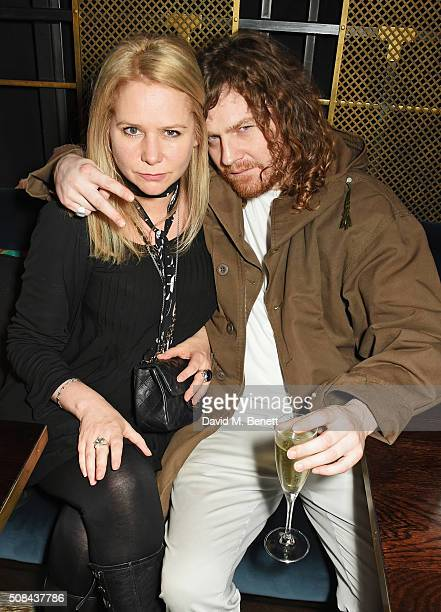 Lee Starkey and Same Old Sean attend the InStyle EE Rising Star party ahead of the EE BAFTA Awards at 100 Wardour St on February 4, 2016 in London,...