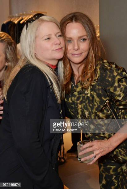 Lee Starkey and Stella McCartney attends the launch of the Stella McCartney Global flagship store on Old Bond Street on June 12, 2018 in London,...