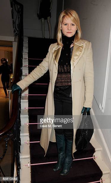 Lee Starkey attends a private party to see the Christmas lights switch on at the Stella McCartney store, on November 24, 2008 in London, England.