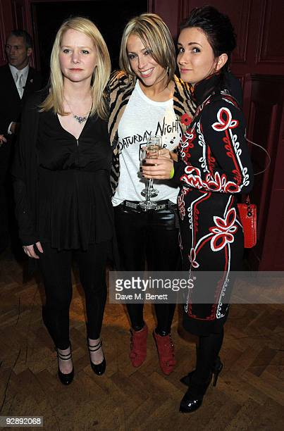 Lee Starkey, Nicole Appleton and Sharna Liguz attend the launch of Liam Gallaghers clothing line, Pretty Green, at the Gore Hotel on November 7, 2009...