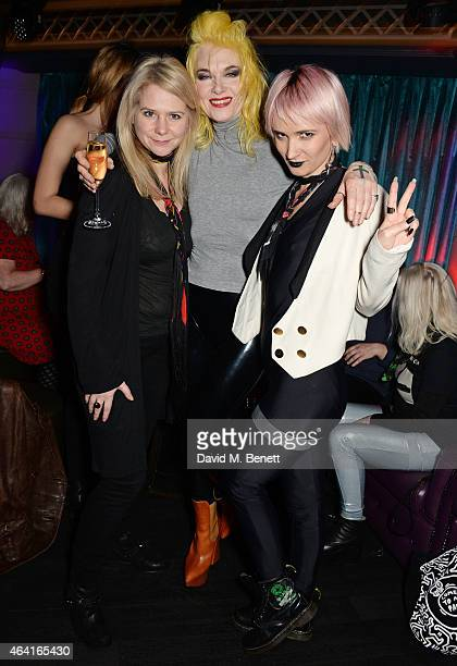 Lee Starkey Pam Hogg and Sharna Liguz attend the Pam Hogg aftershow party in honour of Steve Strange during London Fashion Week Fall/Winter 2015/16...