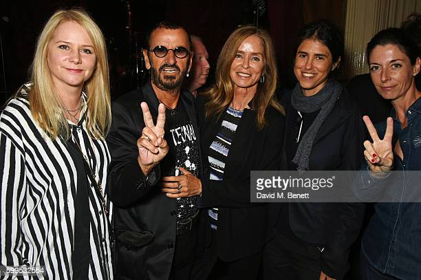 """Lee Starkey, Ringo Starr, Barbara Bach, Francesca Gregorini, Mary McCartney and James McCartney attend the launch of """"Issues"""", a new album by SSHH in..."""