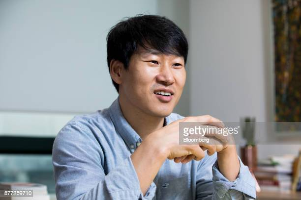 Lee Sujin chief executive officer of Yanolja Co speaks during an interview in Seoul South Korea on Tuesday Oct 10 2017 Lee is founder of Yanolja...