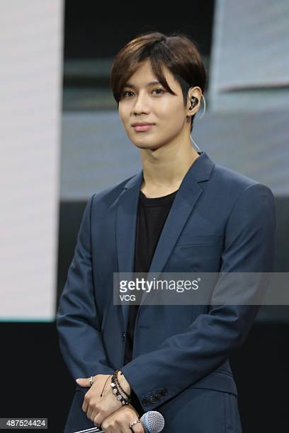 Lee Taemin of South Korean band SHINee attends Samsung promotional event on September 9 2015 in Shanghai China