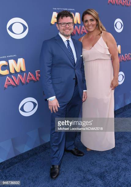 Lee Thomas Miller and Jana Miller attend the 53rd Academy of Country Music Awards at MGM Grand Garden Arena on April 15 2018 in Las Vegas Nevada