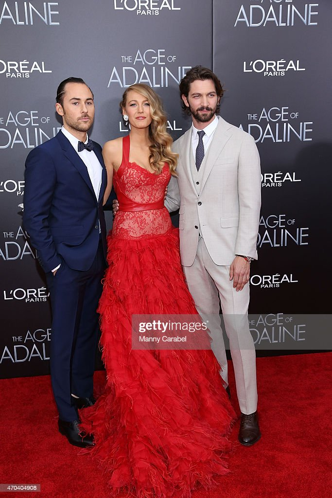 Lee Toland Krieger, Blake Lively and Michiel Huisman attend 'The Age of Adaline' premiere at AMC Loews Lincoln Square 13 theater on April 19, 2015 in New York City.