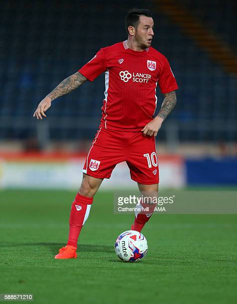 Lee Tomlin of Bristol City during the EFL Cup match between Wycombe Wanderers and Bristol City at Adams Park on August 8 2016 in High Wycombe England