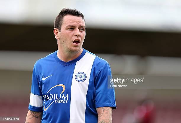 Lee Tomlin of Peterborough United in action during the PreSeason Friendly match between Northampton Town and Peterborough United at Sixfields Stadium...