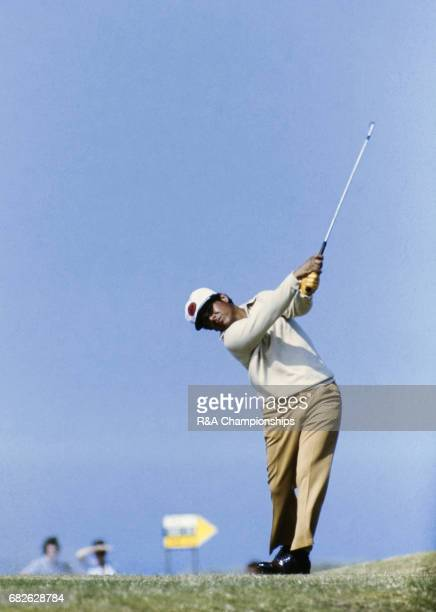 Lee Trevino during the 1972 Open Championship at Muirfield.