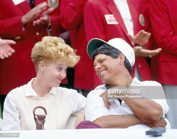Lee Trevino of the United States with his wife Claudia at the US PGA Championship held at the Cherry Hills Country Club in Cherry Hills Village circa...