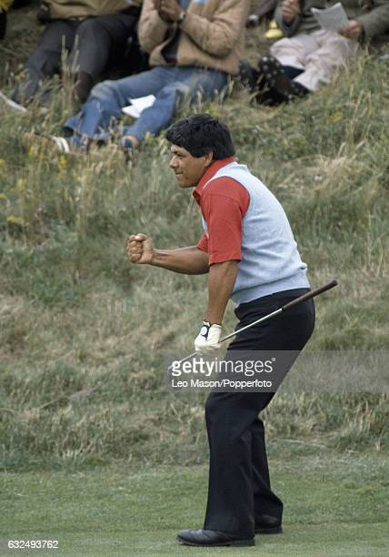 Lee Trevino of the USA in action during the British Open Golf Championship at Royal St George's Golf Club in Sandwich circa July 1981