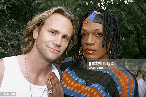 Lee Turgesen and Flotilla DeBarge during Wigstock Festival 2005 at Tompkins Square Park in New York City, New York, United States.