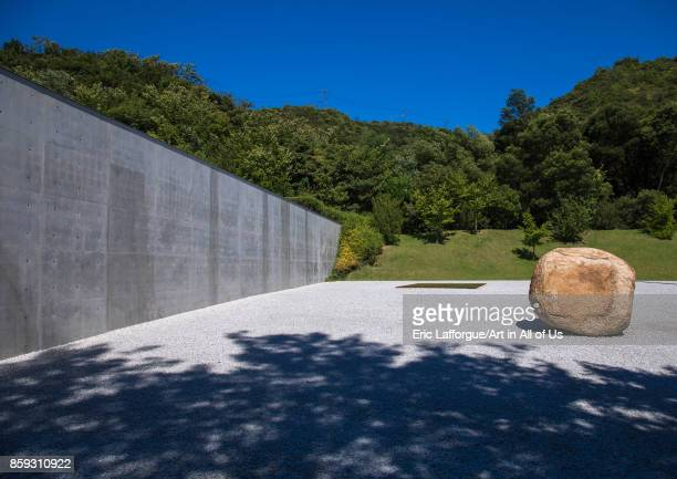 Lee Ufan museum designed by Tadao Ando Seto Inland Sea Naoshima Japan on August 24 2017 in Naoshima Japan