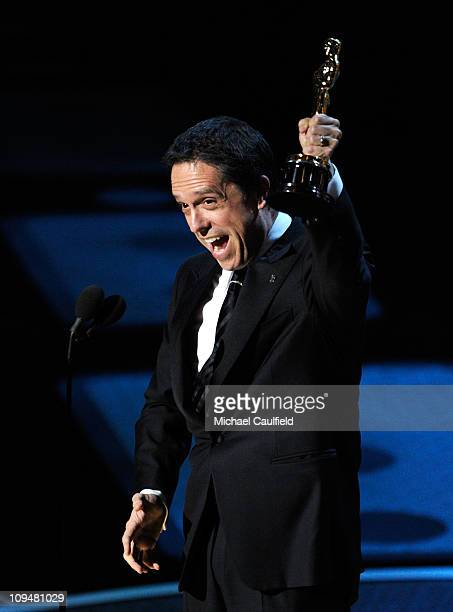 Lee Unkrich accepts award onstage during the 83rd Annual Academy Awards held at the Kodak Theatre on February 27 2011 in Hollywood California
