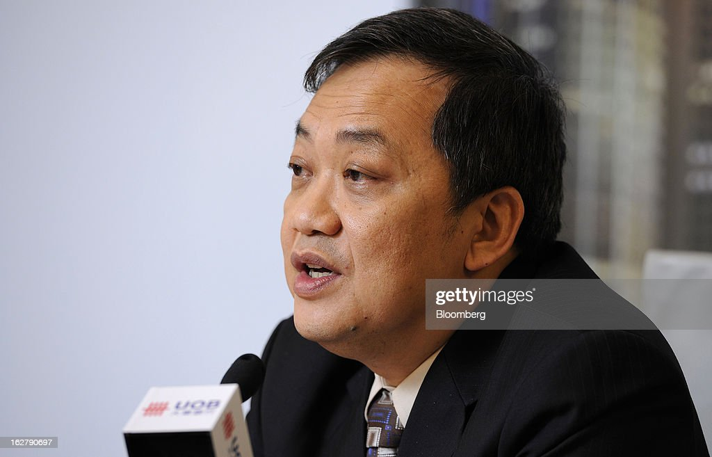 Lee Wai Fai, chief financial officer of United Overseas Bank Ltd. (UOB), speaks at a news conference in Singapore, on Wednesday, Feb. 27, 2013. United Overseas Bank Ltd., Southeast Asia's third-largest lender by assets, said profit rose for a fourth straight quarter on higher income from wealth management and capital markets. Photographer: Munshi Ahmed/Bloomberg via Getty Images