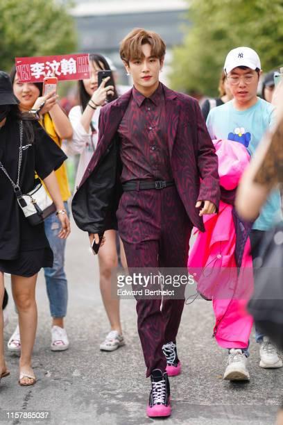 Lee Wen Han is seen outside Kenzo, during Paris Fashion Week - Menswear Spring/Summer 2020, on June 23, 2019 in Paris, France.