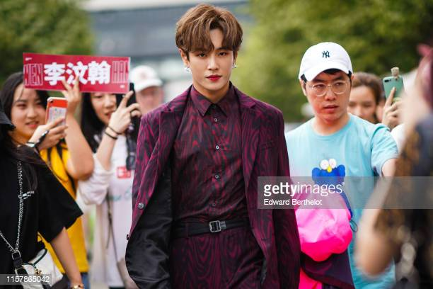 Lee Wen Han is seen outside Kenzo during Paris Fashion Week Menswear Spring/Summer 2020 on June 23 2019 in Paris France