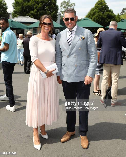 Lee Westwood and Helen Storey on day seven of the Wimbledon Championships at the All England Lawn Tennis and Croquet Club Wimbledon