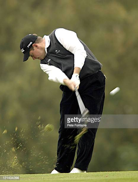 Lee Westwood competes during the second round of the HSBC World Matchplay Championship held at Wentworth Golf Club's West Course. October 15, 2004.