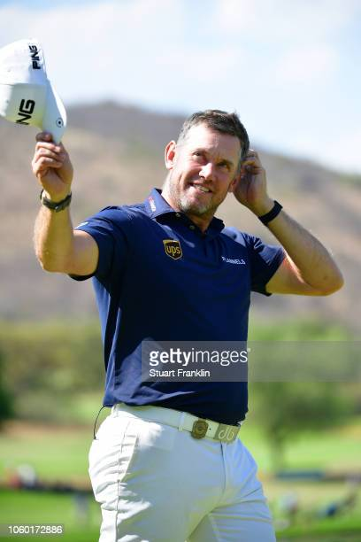Lee Westwood of England acknowledges the crowds after he wins the Nedbank Golf Challenge at Gary Player CC on November 11 2018 in Sun City South...