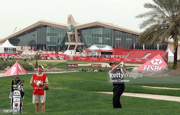 Lee Westwood of England during the proam as a preview for the 2011 Abu Dhabi HSBC Golf Championship to be held at the Abu Dhabi Golf Club on January...
