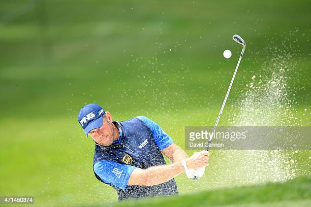 Lee Westwood of England during the proam as a preview for the World Golf Championships Cadillac Match Play held at Harding Park on April 28 2015 in...