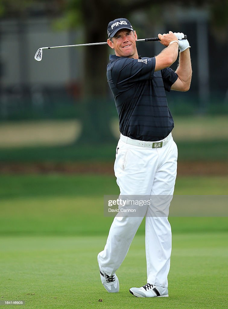 Lee Westwood of England during the pro-am for the 2013 Arnold Palmer Invitational Presented by Mastercard at Bay Hill Golf and Country Club on March 20, 2013 in Orlando, Florida.