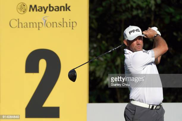 Lee Westwood of England in action during day four of the Maybank Championship Malaysia at Saujana Golf and Country Club on February 4 2018 in Kuala...