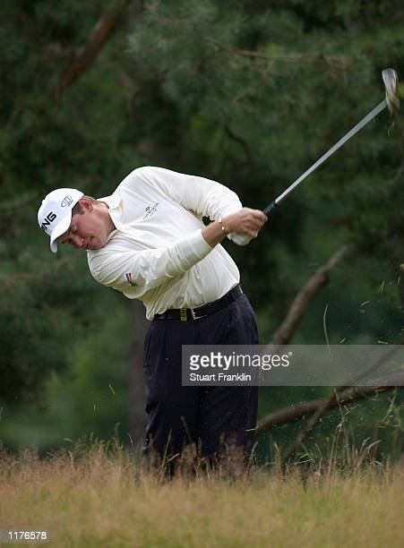 Lee Westwood of England in trouble on the 7th hole during the 1st round of The TNT Open at the Hilversumsche Golf Club Hilversum The Netherlands on...