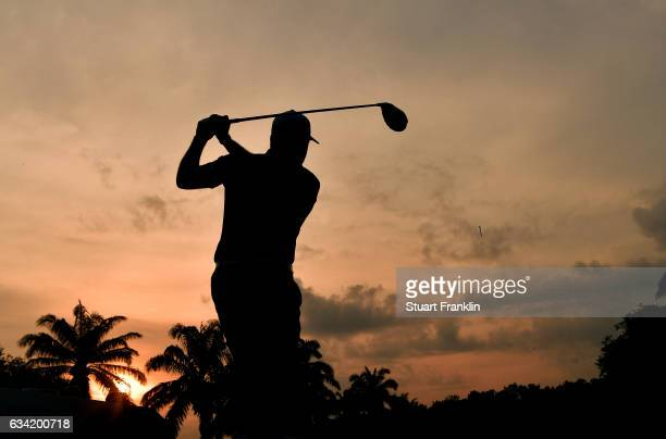 Lee Westwood of England plays a shot during the pro am ahead of the Maybank Championship Malaysia at Saujana Golf and Country Club on February 8 2017...