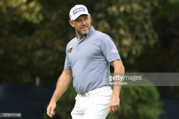 Lee Westwood of England walks from the 12th tee during the first round of the 120th U.S. Open Championship on September 17, 2020 at Winged Foot Golf...