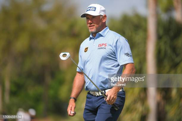 Lee Westwood of England walks off the third green during the final round of The Honda Classic at PGA National Champion course on March 1 2020 in Palm...