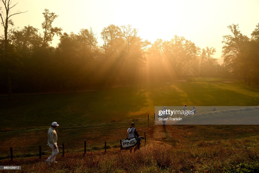 Lee Westwood of England walks on course on Day One of the Italian Open at Golf Club Milano - Parco Reale di Monza on October 12, 2017 in Monza, Italy.